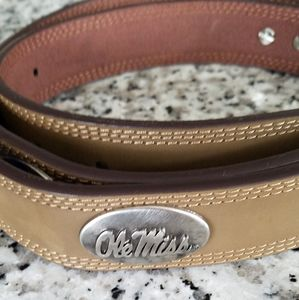 NWOT OleMiss leather belt